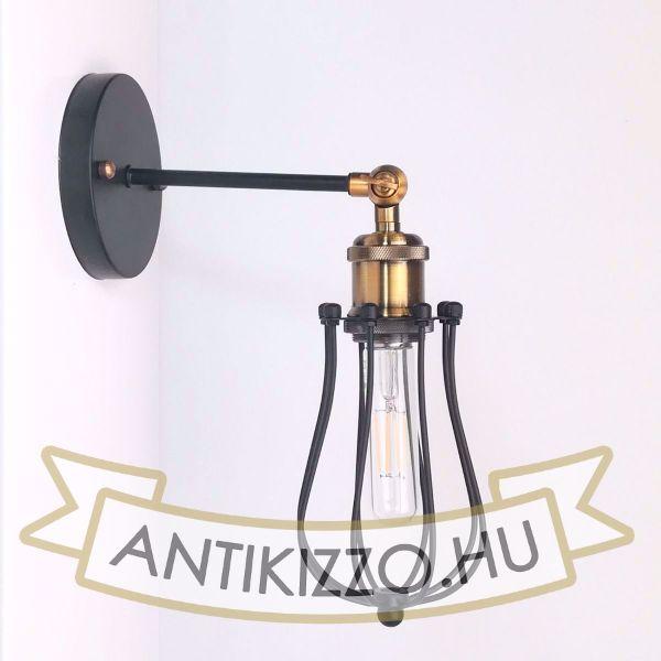 antik-fali-lampa-csepp-alaku-raccsal