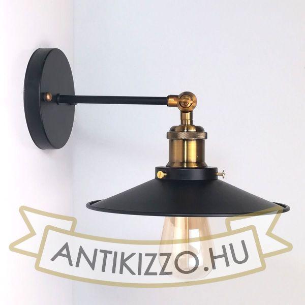 antik-fali-antik-sargarez-foglalattal-fekete-lapos-buraval