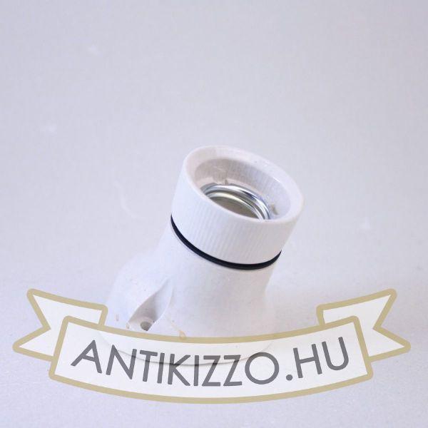 porcelan-foglalat-feher-falra-szerelheto-e27