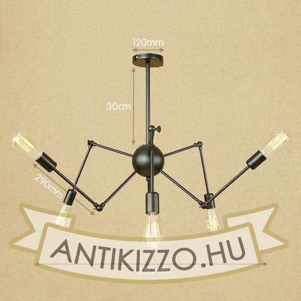 antik-6-karu-allithato-csillar-lampa