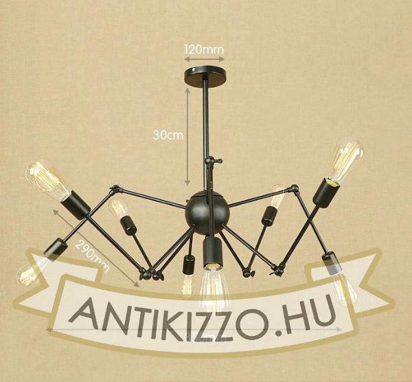 antik-8-karu-allithato-csillar-lampa