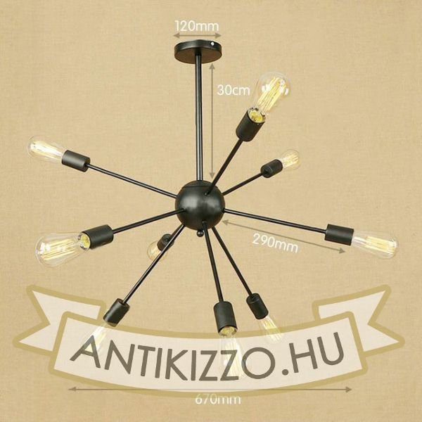 antik-9-karu-csillar-lampa