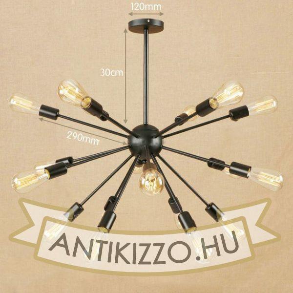 antik-18-karu-csillar-lampa
