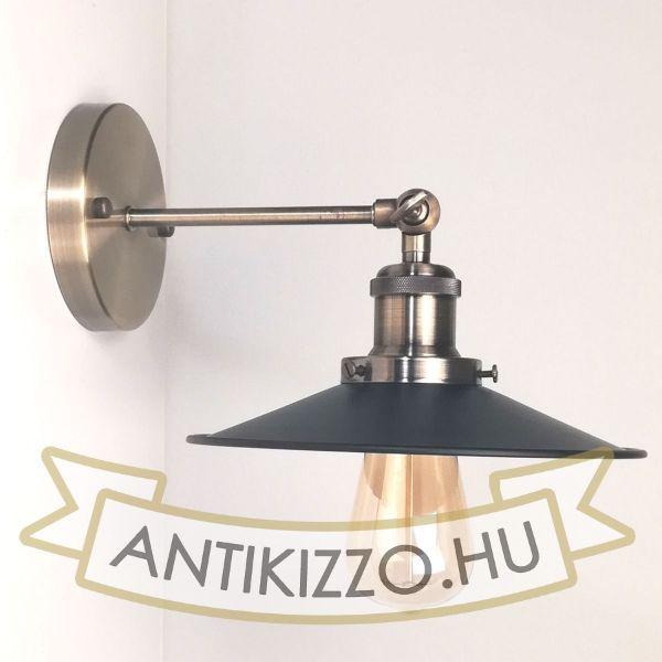antik-bronz-fali-lampa-fekete-lapos-buraval
