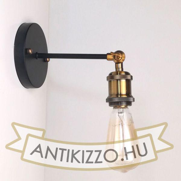 antik-fali-lampa-matt-fekete-antik-sargarez-szin