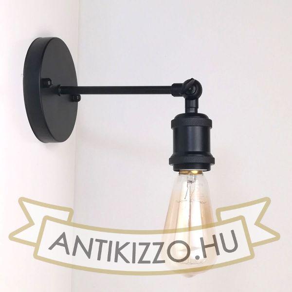 antik-fali-lampa-matt-fekete
