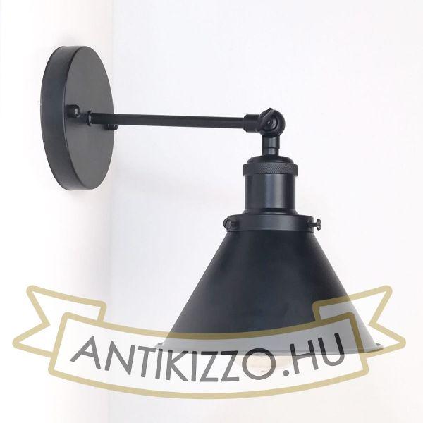 antik-fali-lampa-matt-fekete-szin-kis-buraval