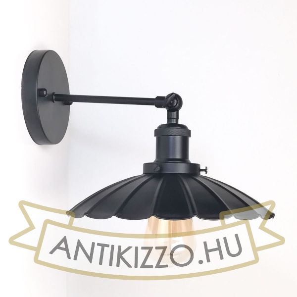 antik-fali-lampa-matt-fekete-szin-olvaso-buraval