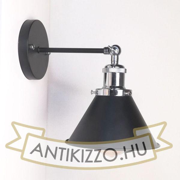 antik-fali-lampa-matt-fekete-fenyes-krom-szin-kis-buraval