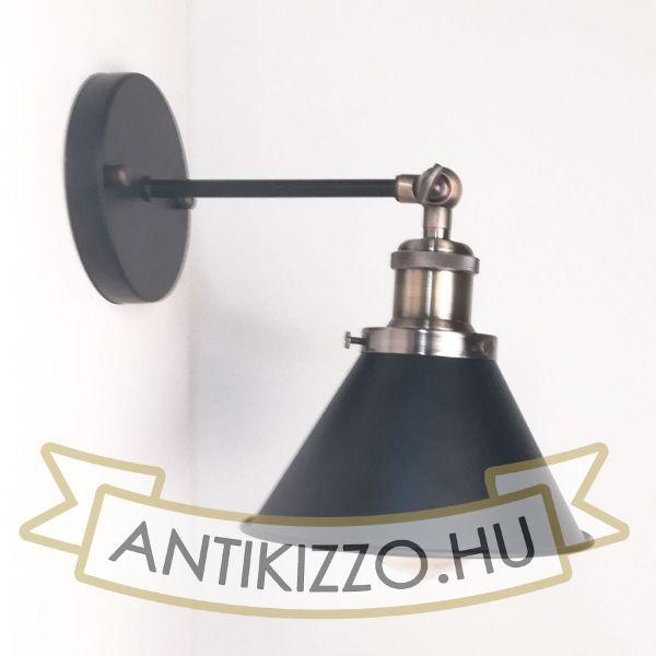 antik-fali-lampa-matt-fekete-antik-bronz-szin-kis-buraval
