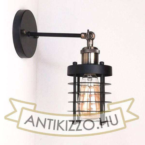 antik-fali-lampa-matt-fekete-antik-bronz-szin-csepp-alaku-raccsal