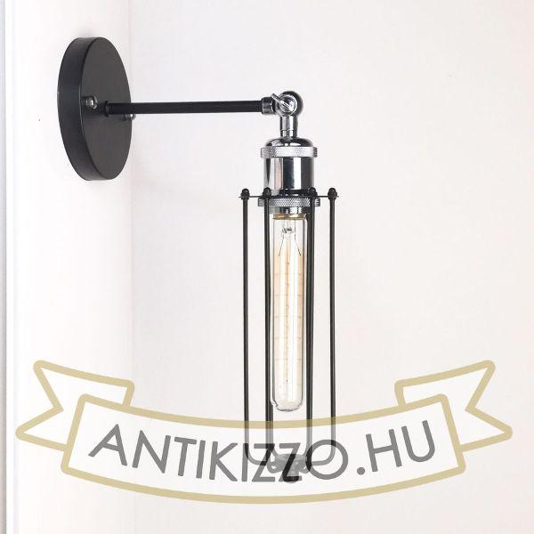 antik-fali-lampa-matt-fekete-fenyes-krom-szin-csepp-alaku-raccsal