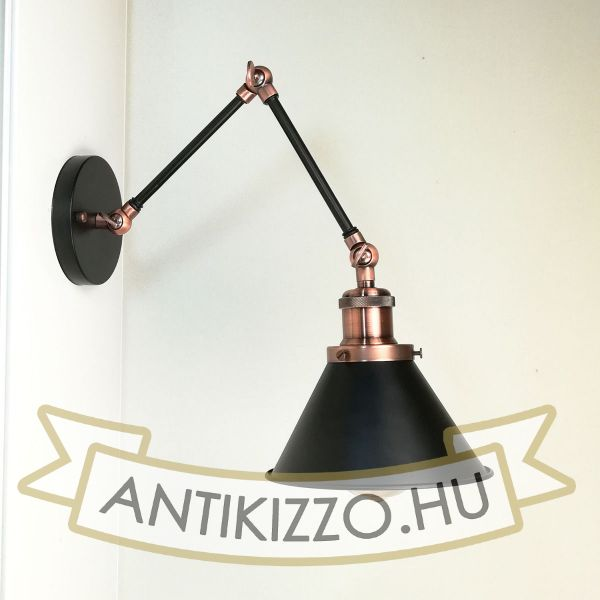 antik-fali-olvaso-lampa-matt-fekete-antik-vorosrez-szin-kis-buraval
