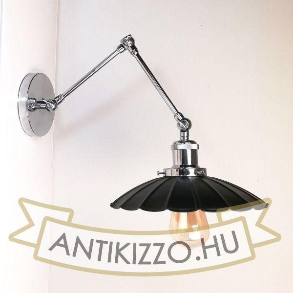 antik-fali-olvaso-lampa-fenyes-krom-szin-hullamos-buraval