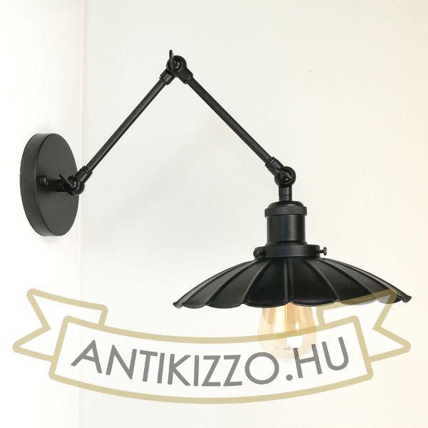 antik-fali-olvaso-lampa-matt-fekete-szin-hullamos-buraval