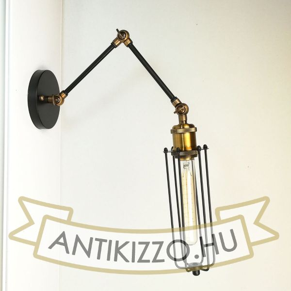 antik-fali-olvaso-lampa-matt-fekete-antik-sargarez-szin-csepp-alaku-raccsal