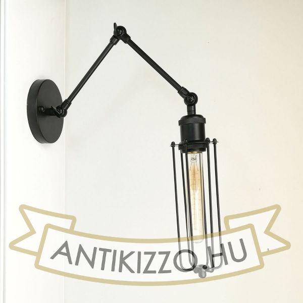 antik-fali-olvaso-lampa-matt-fekete-szin-csepp-alaku-raccsal