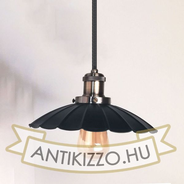 antik-fuggesztek-lampa-matt-fekete-antik-bronz-szin-hullamos-buraval