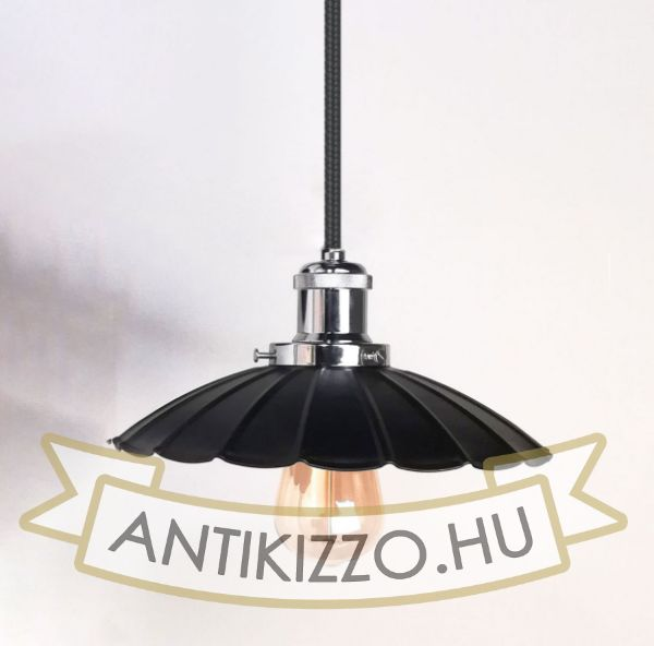 antik-fuggesztek-lampa-matt-fekete-fenyes-krom-szin-hullamos-buraval