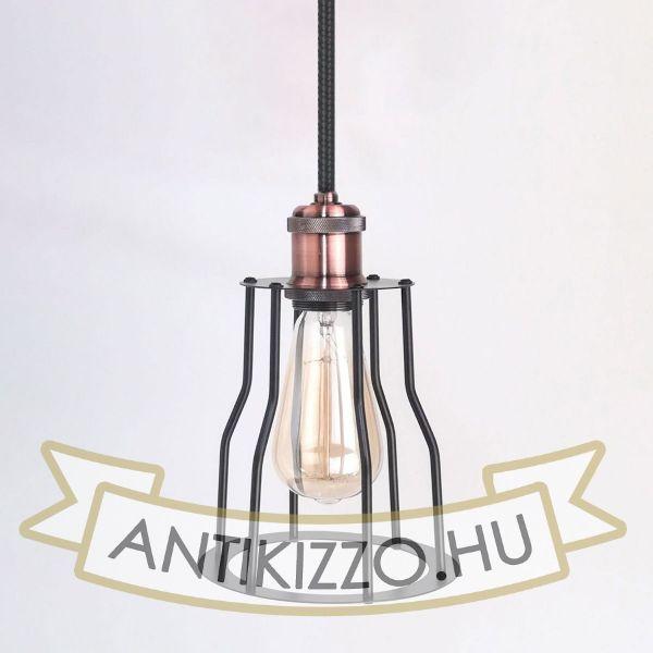 antik-fuggesztek-lampa-matt-fekete-antik-vorosrez-szin-ipari-raccsal