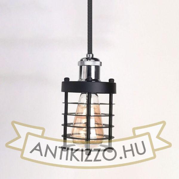 antik-fuggesztek-lampa-matt-fekete-fenyes-krom-szin-henger-alaku-raccsal