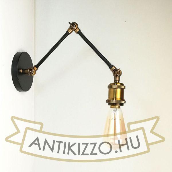 antik-fali-olvaso-lampa-matt-fekete-antik-sargarez-szin
