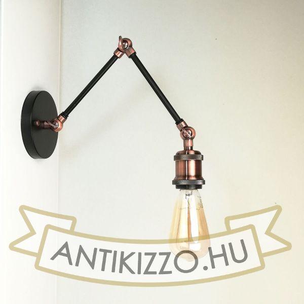 antik-fali-olvaso-lampa-matt-fekete-antik-vorosrez-szin
