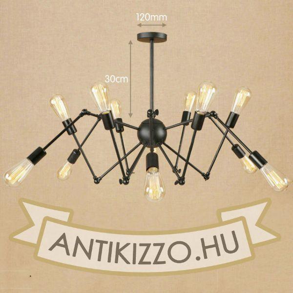 antik-12-karu-csillar-lampa