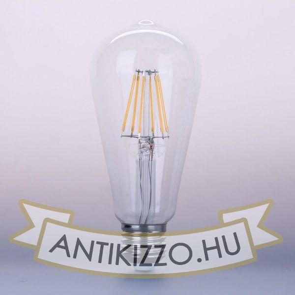 Kép LED filament dekor izzó - ST64 - 6 watt - szabályozható