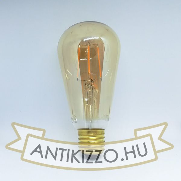 Kép LED filament dekor izzó antikolt - ST64 - 4 watt
