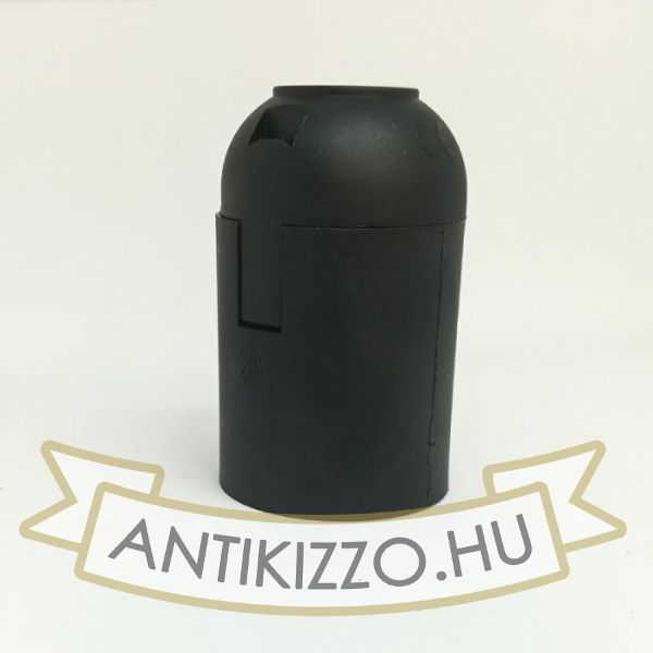 Bakelit Foglalat matt fekete szín E27