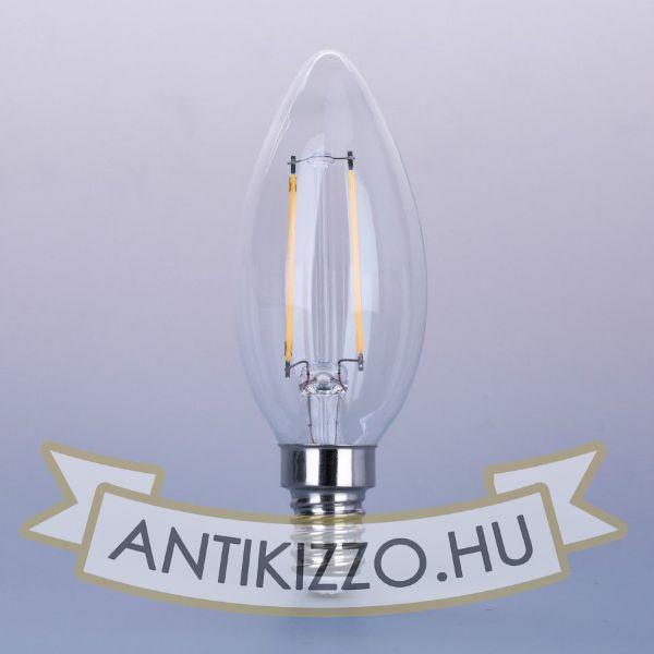 LED filament dekor izzó - C35 - 4 watt