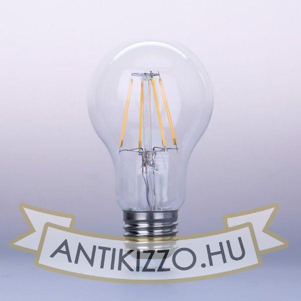 LED Filament dekor izzó - A60 - 4W - E27 - meleg fehér