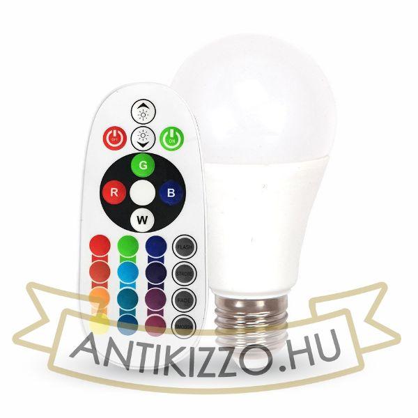 LED A60 RGB izzó - távirányítós