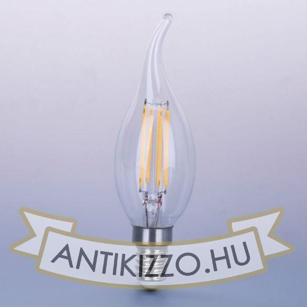 Kép LED filament dekor izzó - C35L - 4 watt
