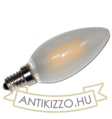 LED filament dekor izzó - opál - C35 - 4 watt E14 - szabályozható