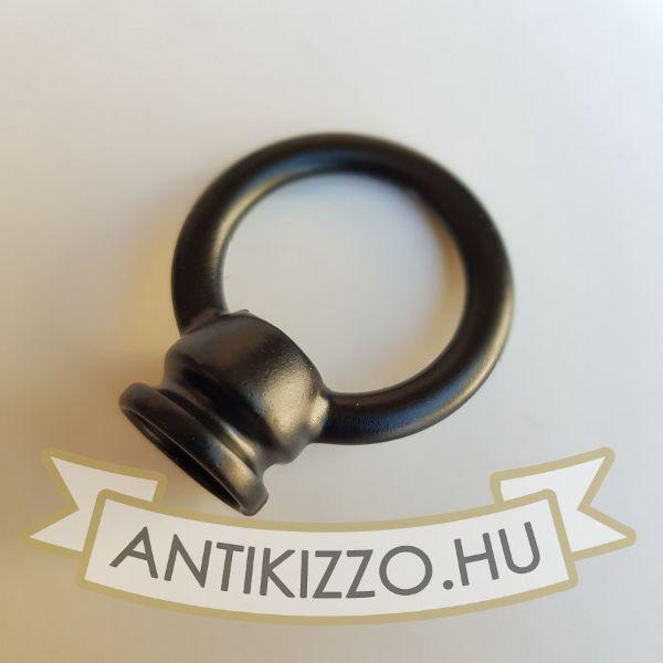 Lámpa tartógyűrű matt fekete - belső menetes 25mm