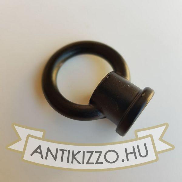 Lámpa tartógyűrű matt fekete - belső menetes 18mm