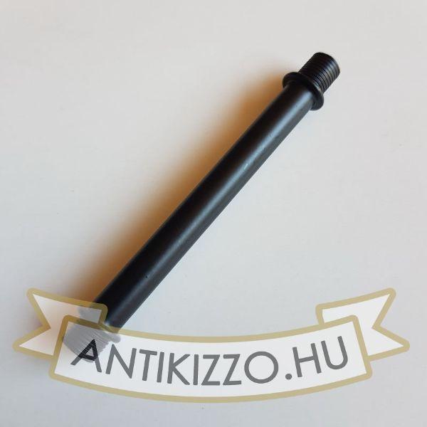 Menetes vegű cső 10cm matt fekete szín