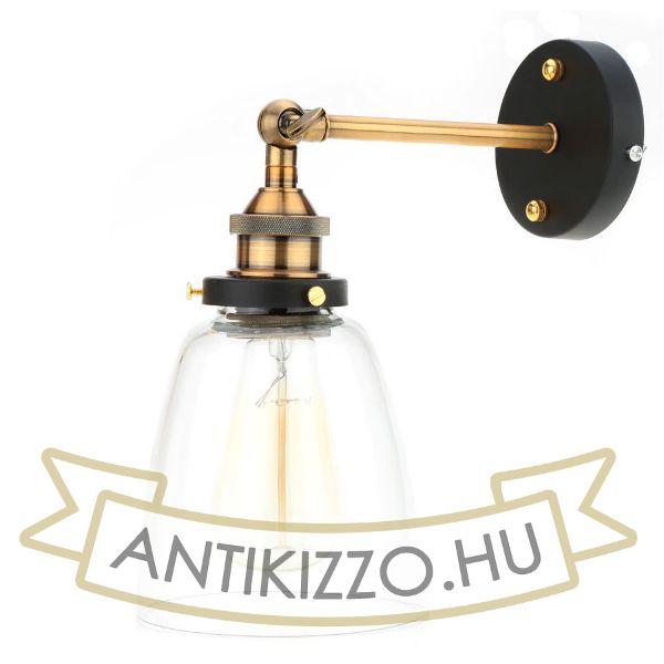 antik-fali-lampa-uvegburaval