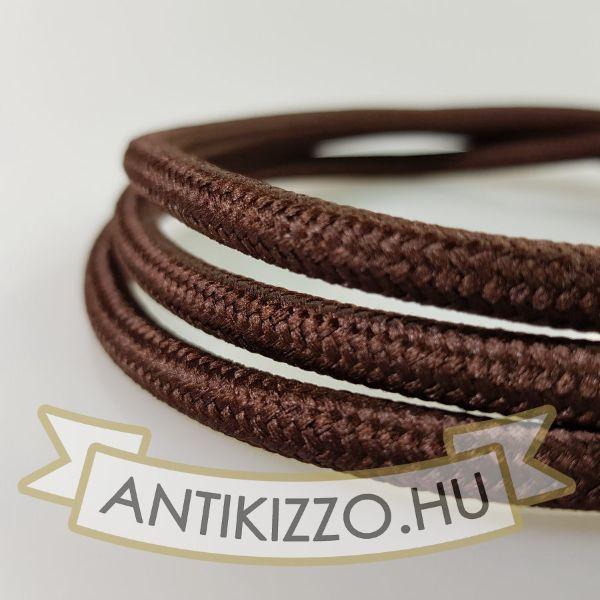 Textil kábel barna - 2x0,75