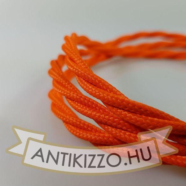fonott-textilkabel-szovetkabel-antik-vezetek-narancs-2x075