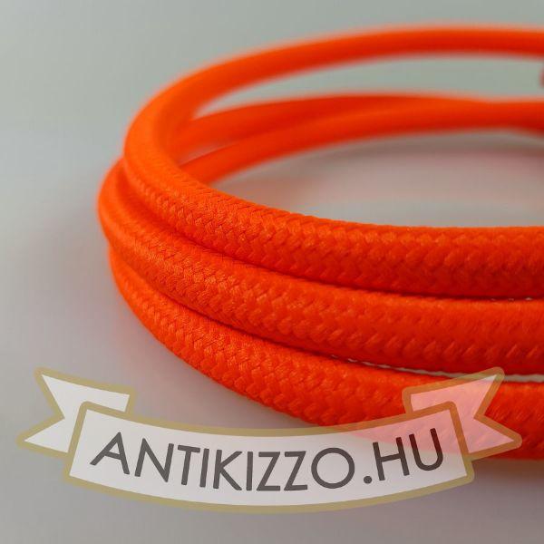Textil kábel neon narancs - 2x0,75