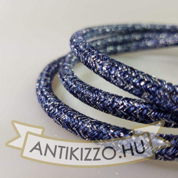 Textilkábel Indigó ezüst 2x0,75