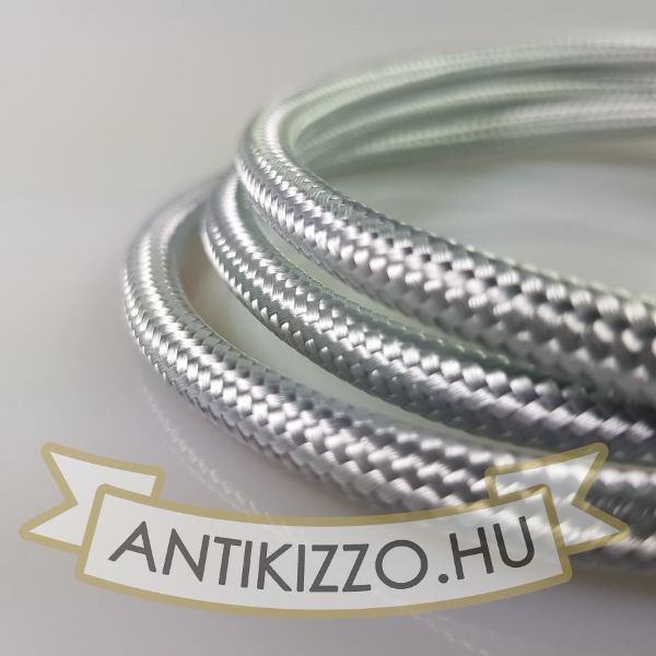 Textil kábel Aluminium fényes-2x0,75