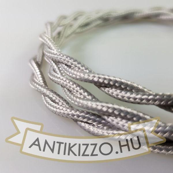 Fonott textil világos ezüst - 2x0,75