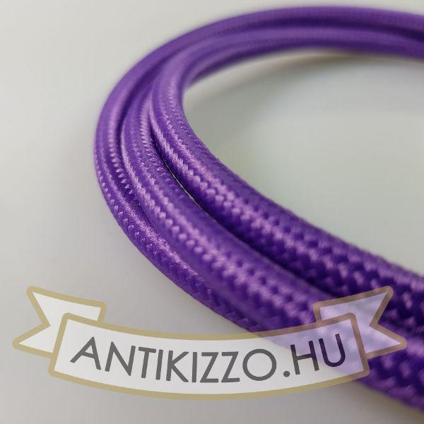 Textil kábel lila -2x0,5