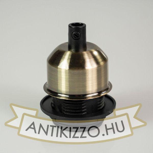 Edison izzó foglalat antik bronz - E27 - búratartós