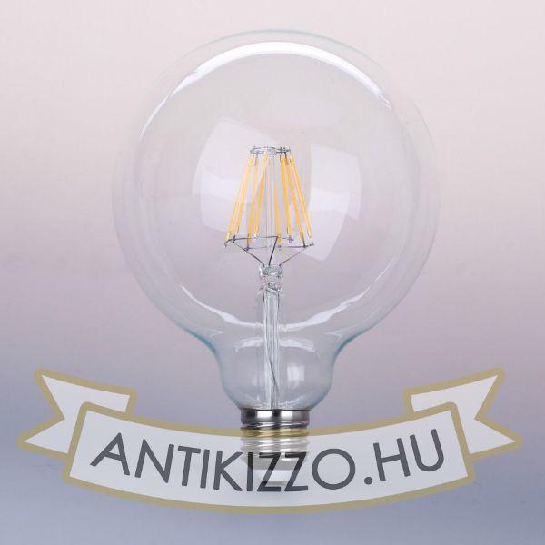 LED filament dekor izzó - G125 - 10 watt