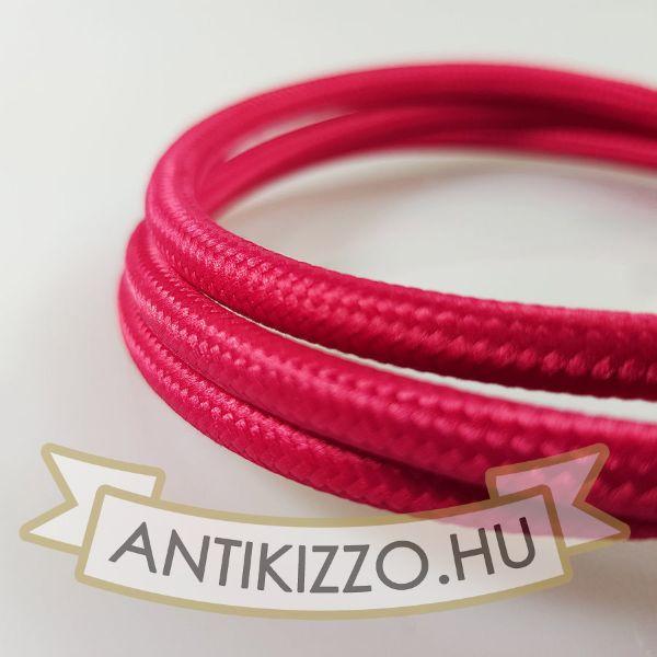 Textil kábel fukszia -2x0,5